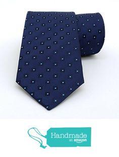 "Dark blue and blue dotted men's tie 8 cm (3,15"") DK-097 from Nazo Design… #handmadeatamazon #nazodesign"