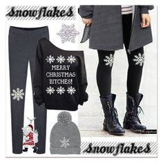 """snowelakes"" by paculi ❤ liked on Polyvore featuring M&Co and nastydress"