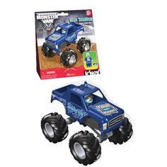 Monster Jam Blue Thunder Building Set $9.99   This set comes with over 30 parts, including a buildable body shell that works within the K'NEX system. Once built, this Blue Thunder monster truck represents 1:43 scale and performs like the real thing. There is also working suspension, big, chunky tires and a K'NEXman driver.