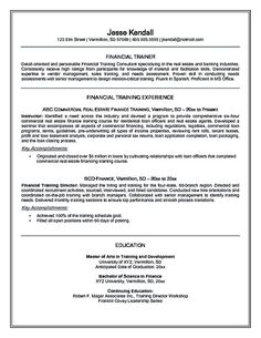 Resume For Personal Trainer Real Estate Resume Sample Real Estate Resume Is Commonly Used For .
