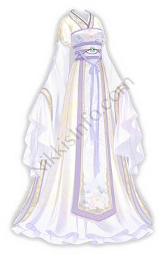 She has fine and slim hands and a sweet voice. She likes playing the Chinese zither when she awakes. Cosplay Outfits, Anime Outfits, Mode Outfits, Dress Design Sketches, Fashion Design Drawings, Hanfu, Mode Kimono, Anime Girl Dress, Fashion Drawing Dresses