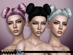 Blossom Hair  Found in TSR Category 'Female Sims 3 Hairstyles'