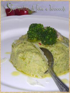 Sciroppo di mirtilli e piccoli equilibri: Sformatini di fave e broccoli