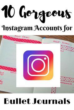 10 Gorgeous Instagram Accounts for Bullet Journals
