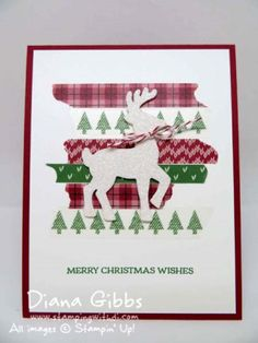 Santa's Sleigh Warmth & Cheer Washi Diana Gibbs Stampin' Up! inspired Claire Daly
