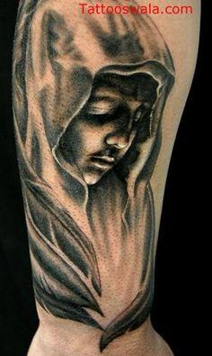 posts black ink sad angel devil tattoo design on left arm sad black ... Sad Angel, Angel And Devil, Angel Of Death Tattoo, Tattoo Designs, Tattoo Ideas, Black Tattoos, Ink, Posts, Google Search