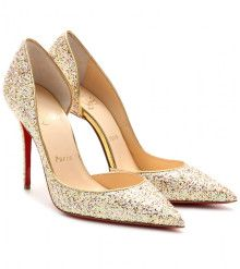 Christian Louboutin Iriza 100 Glitter Pumps - heels www.finditforweddings.com shoes