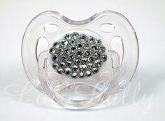 Baby Bling Swarovski Diamond Crystal Rhinestone Avent by LoloLally, $17.00.....I could probably make this!!!!(: