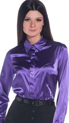 Sexy Blouse, Blouse And Skirt, Blouse Dress, Cute Dress Outfits, Cute Dresses, Satin Top, Silk Satin, Silk Blouses, Satin Shirt