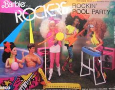 Barbie and The Rockers ROCKIN' POOL PARTY Playset (1986 Arco Toys, Mattel) by Arco Toys, A Mattel Company, Made in Thailand. $219.99