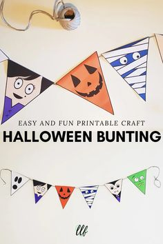 Make this Halloween bunting printable with your kids. It's a fun and easy Halloween craft that you all can do to make your house super spooky. Halloween Bunting, Halloween Crafts For Kids, Crafts For Kids To Make, Halloween Party, How To Make, Easter Crafts For Toddlers, Toddler Crafts, Printable Crafts, Printables
