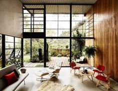 Herman Miller's Mid Century Collection Showcased in Eames House.