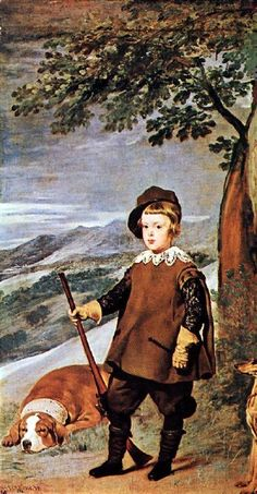 """Prince Baltasar Carlos As A Hunter"" -- Diego Velazquez (1599 – 1660, Spanish)"