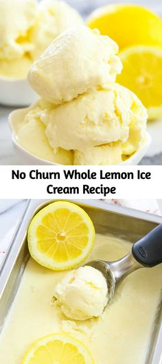 This creamy lemon ice cream uses just 3 ingredients. It's super easy to prepare … This creamy lemon ice cream uses just 3 ingredients. It's super easy to prepare and you'll have no-churn ice cream the next day. Peach Pie Recipes, Strawberry Recipes, Ice Cream Recipes, Lemon Recipes Baking, Easy Ice Cream Recipe, Cream Cheese Coffee Cake, Lemon Ice Cream, Cheesecake Ice Cream, Cream Cake