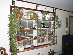 Window Treatment Window Display Wrought Iron Home Décor Window Plant Shelf Window Green House
