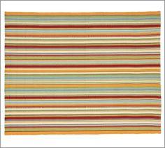 Morgan Stripe Indoor/Outdoor Rug | Pottery Barn