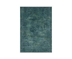 Ковер - вискозное волокно - бирюзовый, 160х228  см