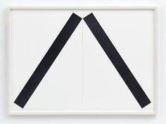 Frank Gerritz, To Drop A Line (Leaning), 2017, Bleistift auf Papier, 2-teilig, jeweils 58,8 x 42 cm