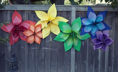 Handmade paper flowers- easy and bright decorations