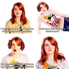 Emma Stone Re-Enacts Star Wars. What's not to love about that!