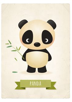 Nursery art print Panda print children's by IreneGoughPrints