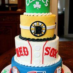 #newengland #sports #cake ! #barmitzvah #mitzvah #patriots #pats #newenglandpatriots #nepatriots #redsox #redsoxnation #bruins #bostonbruins #celtics #bostonceltics #football #baseball #hockey #basketball #instacake #cakestagram