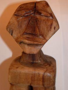 John Lynch Aztec Mayan Style Sitting Man Sculpture by ArtVineyard