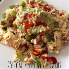 Twins + One, How Mama Got Her Groove Back: Fiesta Chicken Scramble. Clean eating. Advocare 24 day challenge. Low carb breakfast.