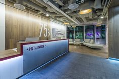 Reception area from Pret A Manger's London offices
