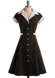 50s style polka dot dress. by sarah