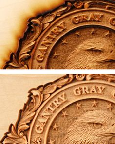 Removing wood residue from engraving and cutting projects