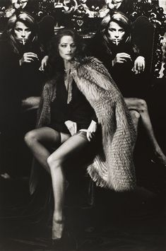 Charlotte Rampling - Great Cape - I could take an old fur coat and, removing the sleeves, re-fashion it into this!!!