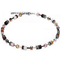 Signature Cube Necklace, 4526, Coeur De Lion, Pink, Camel, Black, White