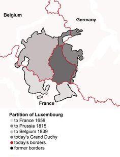 As três Partições do Luxemburgo reduziram muito o território de Luxemburgo. // Luxembourg Partitions Map english ◆Luxemburgo – Wikipédia http://pt.wikipedia.org/wiki/Luxemburgo #Luxembourg