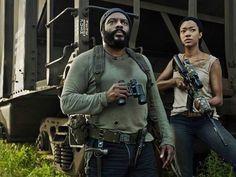 Tyreese and Sasha. The Walking Dead - season 5 promo photo ~ published Sept 2014 #TheWalkingDead
