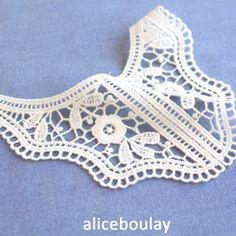 Mercerie encolure dentelle/guipure en coton pour bébé : Déco, Customisation Textile par alice-boulay