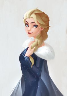 Queen Elsa in Olaf's Frozen Adventure Disney And Dreamworks, Disney Pixar, Walt Disney, Elsa Frozen, Disney Frozen, Frozen Fan Art, Disney Movies, Disney Characters, Jack Frost And Elsa