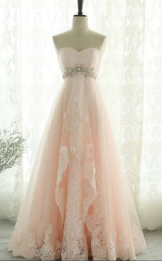 Pink Sweetheart Beading ,Lace Tulle ,Lace Up ,Open