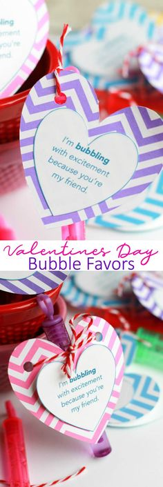 Skip the candy this Valentine's Day and send these super cute and Easy Valentine's Day Bubble Favors. Make these with the free printable.