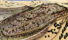 artist's reconstruction of Jerusalem in the 8th century BC, based on recent archaeological finds