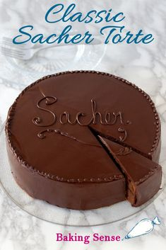Sacher Torte – A Classic Cake The classic Sacher Torte is made with chocolate cake layers, apricot preserves and a shiny chocolate-glaze finish. It's a lovely cake fit for any occasion. Best Chocolate Torte Recipe, Dessert Cake Recipes, Just Desserts, Flourless Chocolate, Chocolate Glaze, Apricot Cake, Cold Cake, Torte Cake, Pastries