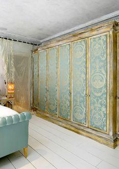 Beautiful wardrobe doors. Gatsby House bedroom.