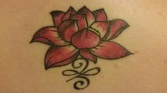 New beginnings tattoo with lotus and celtic symbol                              …