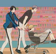 I feel like they would do this. Haikyuu Manga, Haikyuu Funny, Haikyuu Fanart, Fanarts Anime, Anime Characters, Hinata, Version Francaise, Volleyball Anime, Kuroken