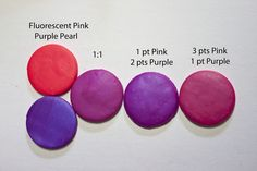 New Color Tuesday! Fluorescent Pink goes Royal (Purple Pearl)   #Polymer #Clay #Colormix