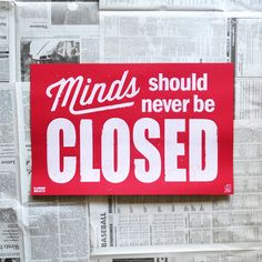 Closed Poster by Random Objects Bar Fancy, New Thought, Business Advice, Papers Co, You Are Awesome, Cool Gadgets, Graphic Tees, Objects, Mindfulness