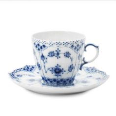 Royal Copenhagen, Plain Blue Fluted  Blue China