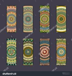 Banner Card Set With Floral Colorful Decorative Mandala Elements Background. Tribal,Ethnic,Indian, Islam, Arabic, Ottoman Motifs. Стоковая векторная иллюстрация 505320199 : Shutterstock