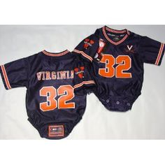 Virginia Cavaliers- University of - NCAA Football Infant/baby Onesie Jersey Large 9-12 months #2