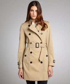 Burberry : honey cotton belted trench : style # 325979701